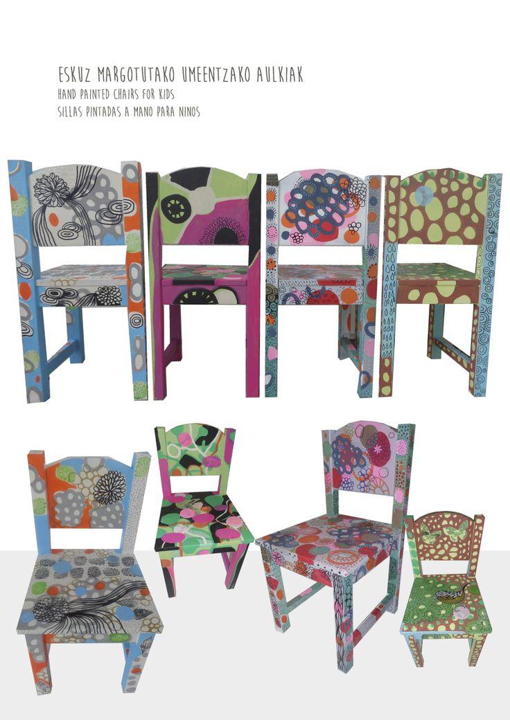 sillas originales pintadas a mano a la venta en lajirafaproyectos.com