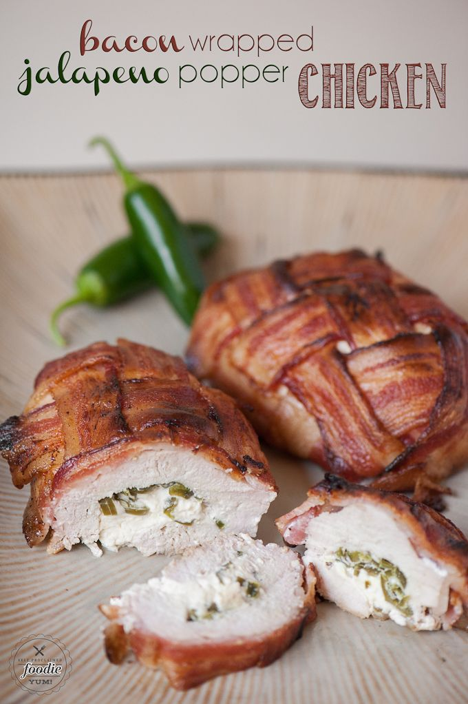 Because bacon makes everything better, enjoy or baking this 4 ingredient Bacon Wrapped Jalapeno Popper Chicken for dinner or a game day feast.   #ad