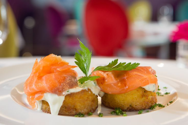 Irish Food - Boxty with Smoked Salmon at Restaurant gigi's at The g Hotel, Galway