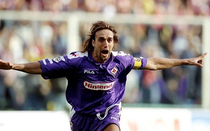 Fiorentina 1998 BATISTUTA #9 Nintendo Retro Football Shirt Jersey Calcio M L XL | eBay