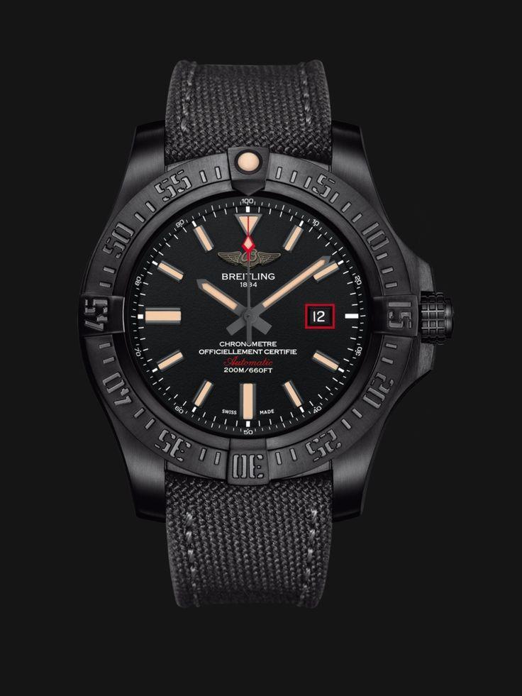**Versions - Breitling Avenger Blackbird 44 - Black-coated titanium watch $5105