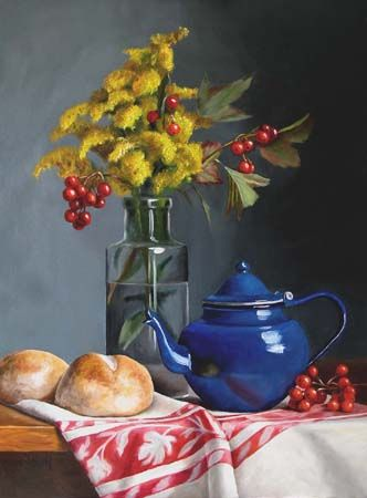 Julie Y Baker Albright-Vermont - Realism Art Oil Paintings -  Still Life - Landscape- NewEngland Oil painting