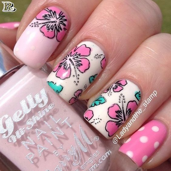 50+ So beautiful Lace Stamping & Floral Pattern Nail Design - Reny styles