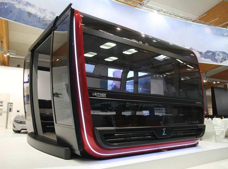 Une cabine de remontée mécanique griffée comme une Maserati avec sièges en cuir, écrans multimédia, accès au wifi et climatisation : c'est la dernière réalisation de la société Sigma Composite, une PME iséroise spécialisée dans la construction de cabines de transport de personnes.