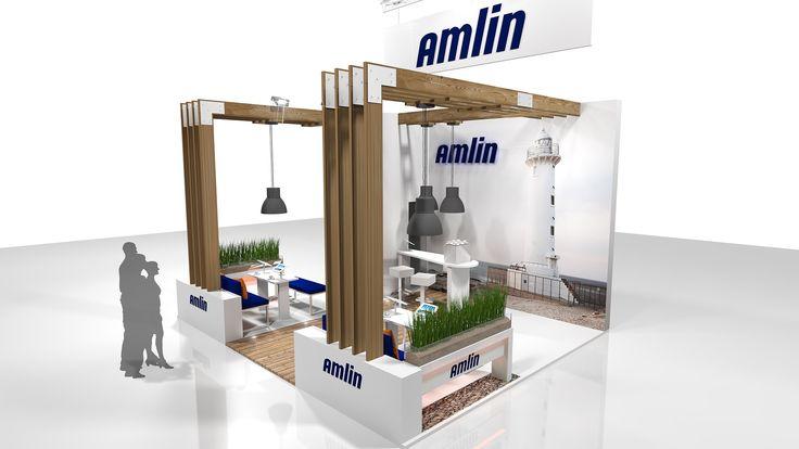 Amlin exhibition stand for BIBA 2014. BIBA is an international insurance conference.