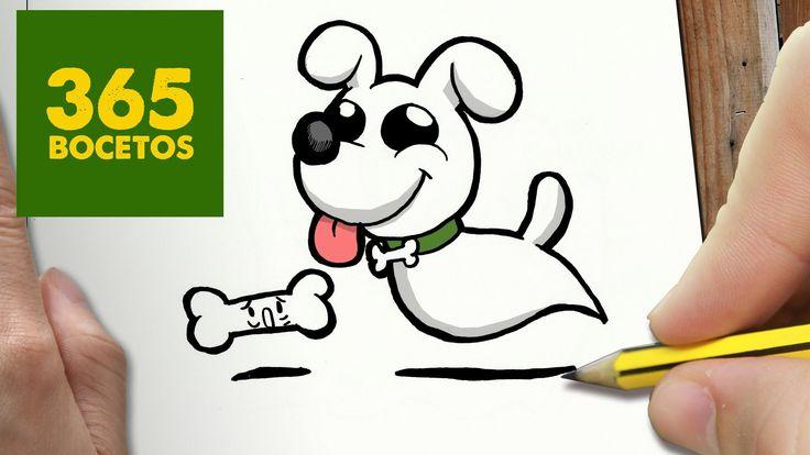 COMO DIBUJAR PERRO FANTASMA KAWAII PASO A PASO - Dibujos kawaii faciles - How to draw a Dog Ghost