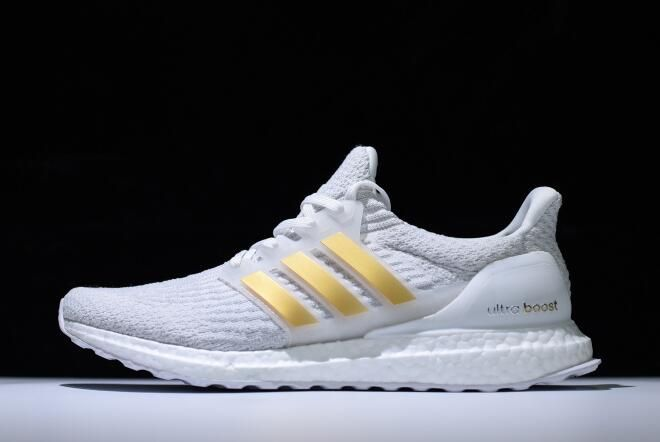 2018 Men S Adidas Ultra Boost 3 0 White Gold Ba7680 Shoes Sale New Yeezy 2018 Adidas Ultra Boost New Adidas Ultra Boost Adidas