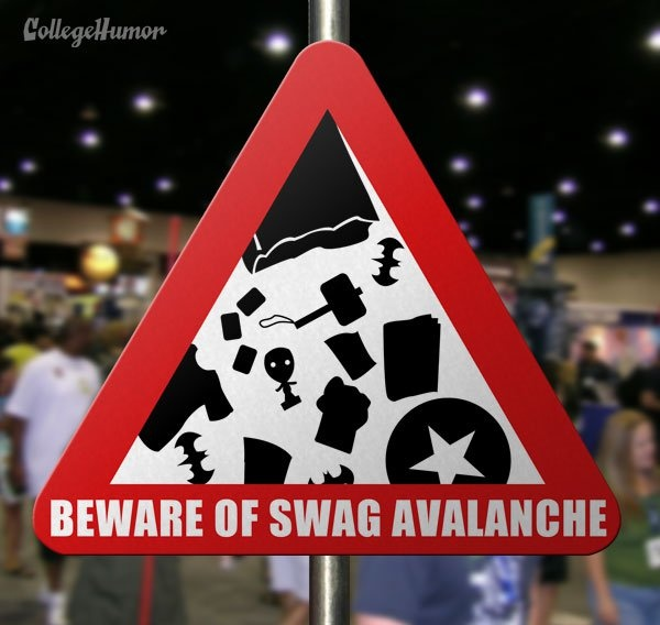 College Humor released a funny series of comic convention specific warning signs