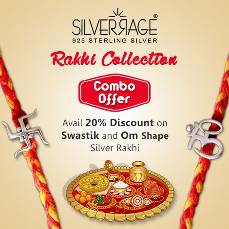Sterling Silver Rakhi Buy sterling silver rakhi. Silverrage announcing 20 % discount as combo offer.