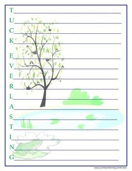 Printables Tuck Everlasting Worksheets 1000 ideas about tuck everlasting on pinterest louis sachar use this acrostic poem to analyze or summarize the novel everlasting
