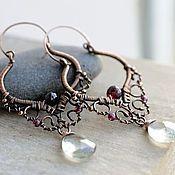 "Handmade Jewelry. Fair Masters - handmade earrings fishnet ""M"". Handmade."