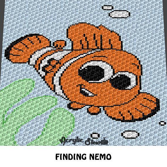 Graphgan Pattern Corner To Corner C2c Sc Clown Fish Etsy Crochet For Beginners Blanket Cross Stitch Crochet Blanket Patterns