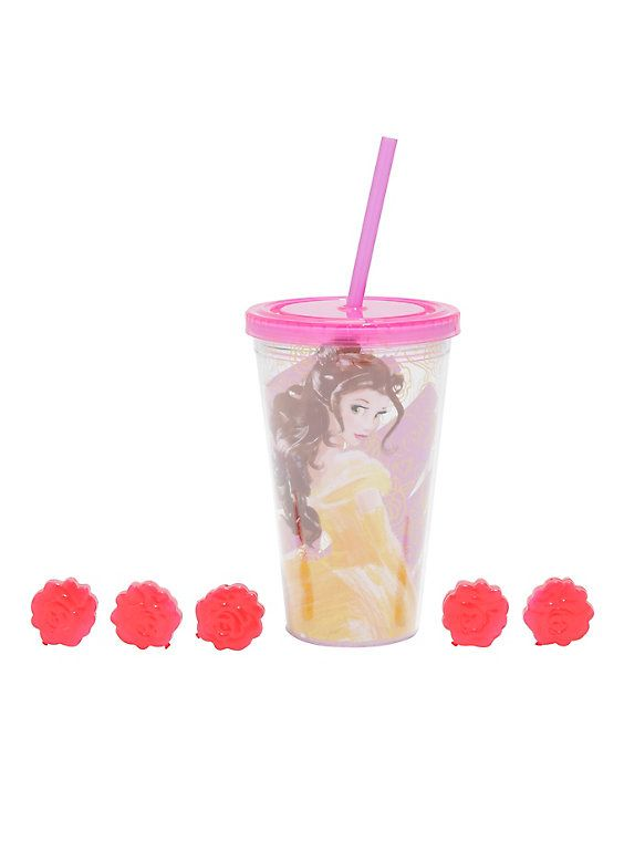 Disney Beauty And The Beast Belle 3D Ice Cubes Acrylic Travel Cup,