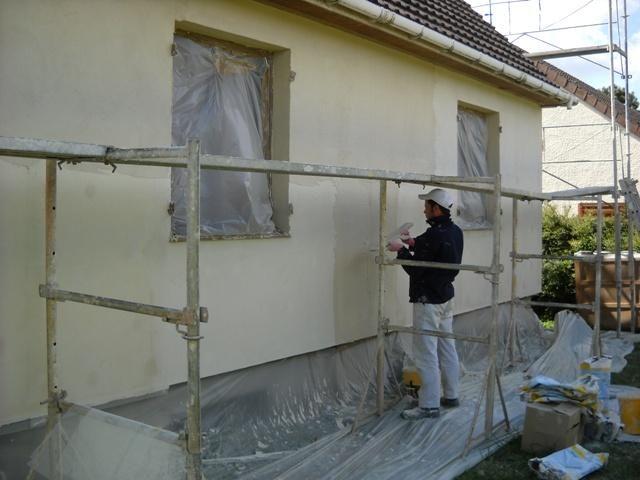Isolation maison par exterieure polystyrene et enduit 1