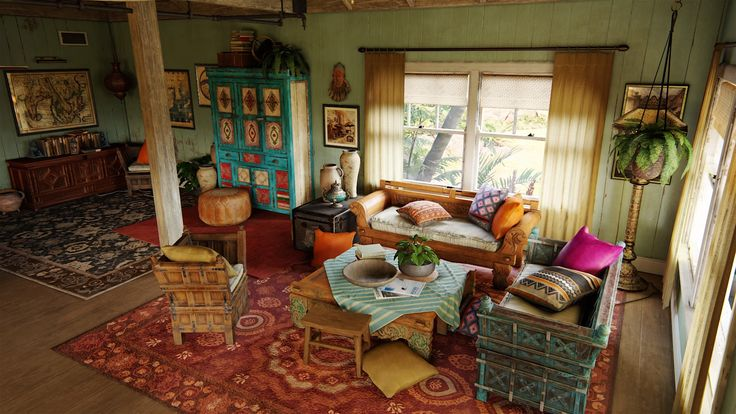 Uncharted livingroom