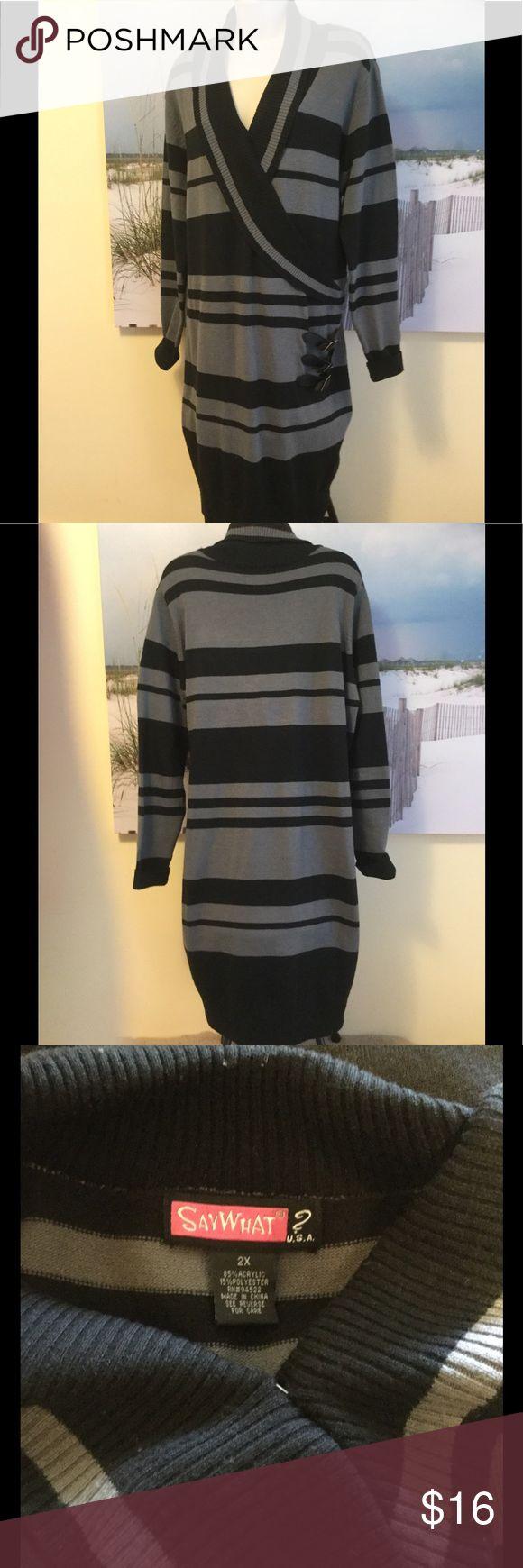 Say What? Black U0026 Gray Dress Sz 2X