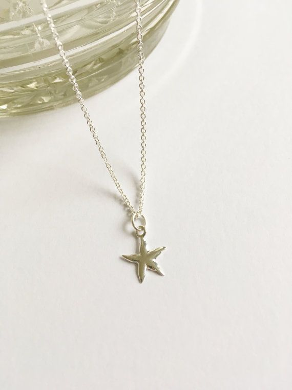 Sterling Silver Star Necklacespecial by WhitePebbleJewellery