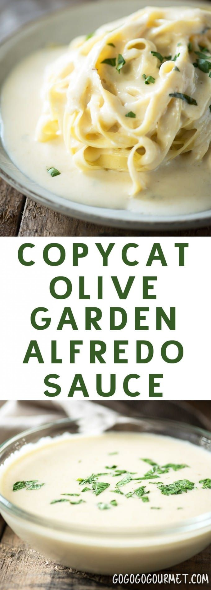 This Copycat Olive Garden Alfredo Sauce is a fast and easy dinner, and even better than the original! The perfect alfredo sauce recipe. |  via @gogogogourmet