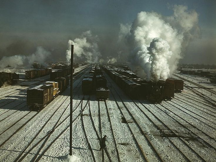 C nw rr a general view of a classification yard at
