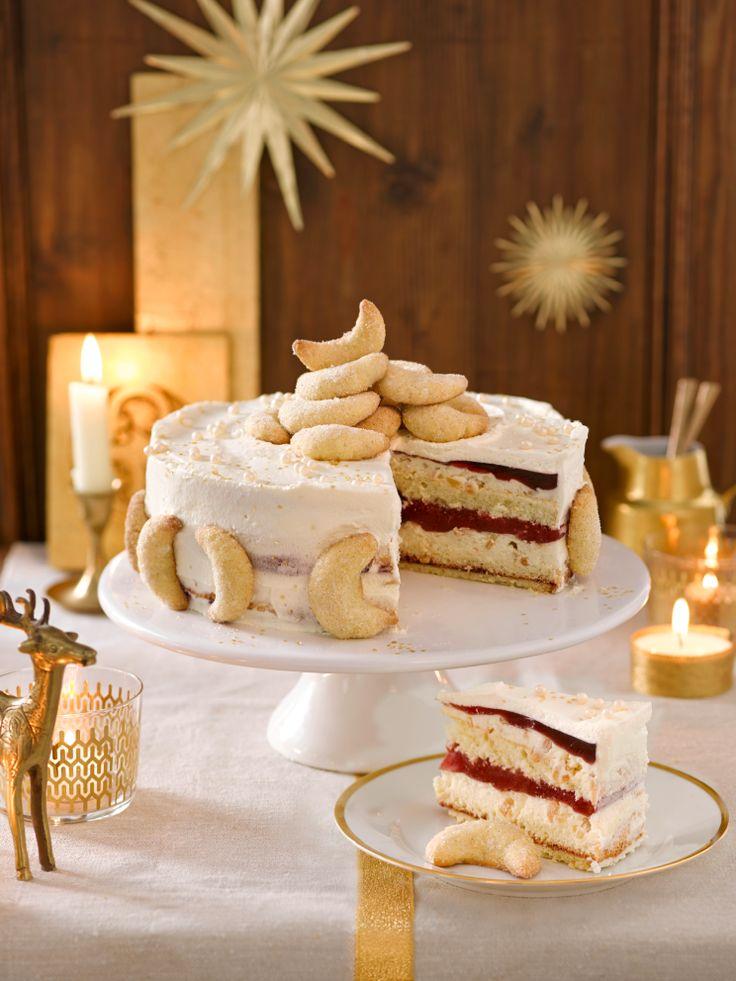 Vanillekipferl-Torte (Heft: Dezember 2014)Foto © Maike Jessen für ARD Buffet Magazin