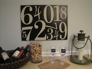 knock-off Pottery Barn number art how-toWall Art, Stores Vinyls, Numbers Pottery, Barns Knockoff, Subway Art, Dollar Stores, Pottery Barns Inspiration, Shelf Liner, Average Vinyls