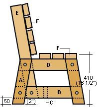park bench leg plans - Google Search