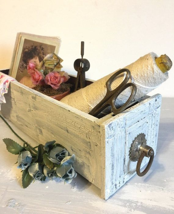 Farmhouse Decor  Upcycled Sewing Machine Drawer  by GreenEarthSoul