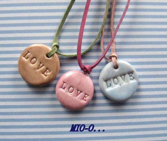 Ketten kurz - Schöne Halskette Love... - ein Designerstück von MIO-O bei DaWanda