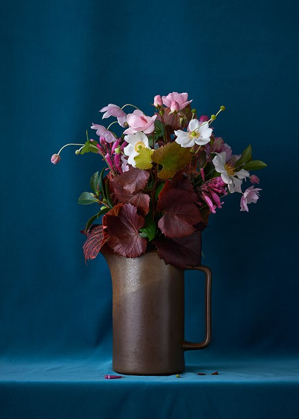 """""""Blue Arrangement """" by Billie Culy  // New Zealand // Prints available online @ Homebase Collections"""