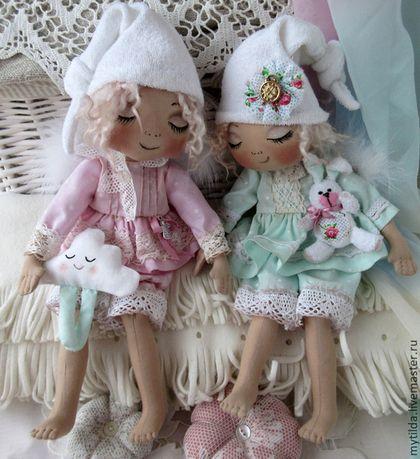 Куклы тыквоголовки ручной работы. Ярмарка Мастеров - ручная работа. Купить Ангелы - сони. Handmade. Мятный, соня, подарок сестре