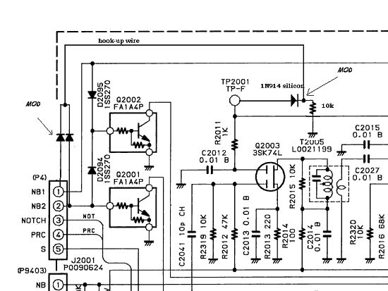 Yaesu FT-1000 (FT 1000 FT1000) user and service manual, modifications