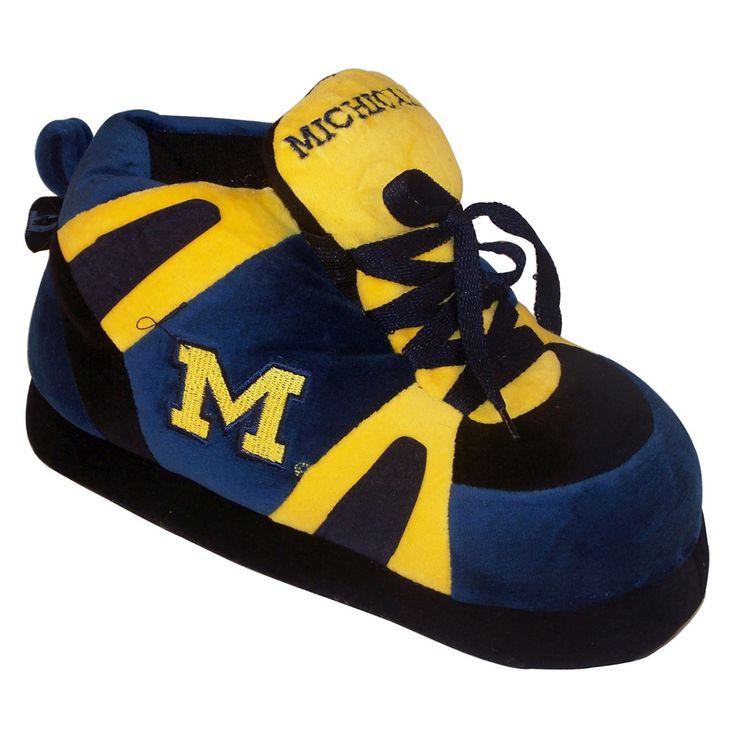 Comfy Feet NCAA Sneaker Boot Slippers - Michigan Wolverines - MIC01LG