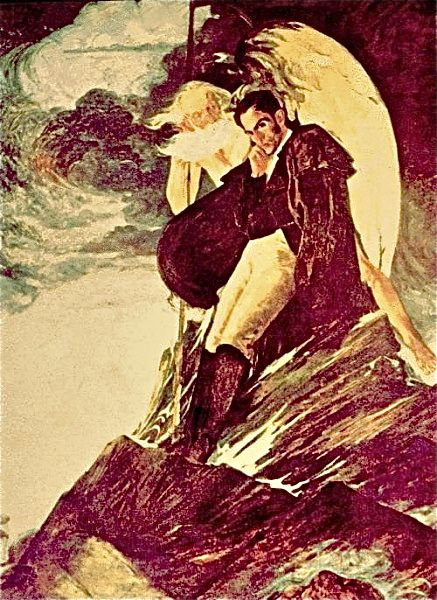 Tito Salas Venezuelan contemporary painting.  1887/1974  Bolivar en el chimborazo by Tito Salas