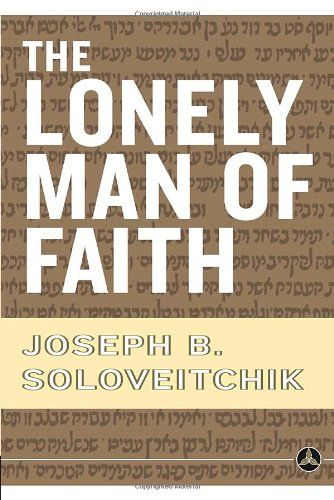 The Lonely Man of Faith by Joseph B. Soloveitchik http://www.amazon.com/dp/0385514085/ref=cm_sw_r_pi_dp_ofqSvb103JW8F