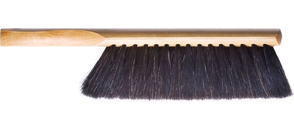 Horsehair Hand Broom - Sturdy, full-sized hand broom made from carved wood and horsehair. Tumbled in carnauba wax. Unconditional lifetime warranty. Made from start to finish in Clarksville, Texas. (more info) $24.00