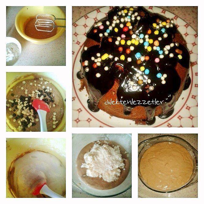 En güzel mutfak paylaşımları için kanalımıza abone olunuz. http://www.kadinika.com Hindistan Cevizli Çikolatalı Kek  Malzemeler (4-6 kişilik)  Kek:  2 yumurta 100 gr krema 5 kaşık toz şeker 1/2 çay bardağı tereyağı 1 su bardağı2 yemek kaşığı un 1 Paket vanilya 1/2 paket kabartma tozu 1 çay bardağı puding veya 1 yemek kaşığı kakao 2 yemek kaşığı bitter damla çikolata 2 yemek kaşığı beyaz damla çikolata  İç harç:  4 yemek kaşığı Hindistan cevizi rendesi 50 ml krema 3 yemek kaşığı pudra şekeri…