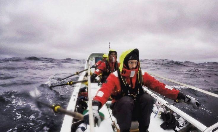 Le mani del canottiere: dopo due settimane nell'Artico sono trasformate