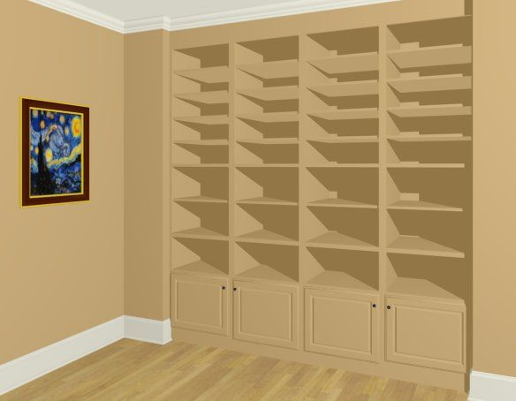 How to create built in wall bookshelves - Chief Architect Software Help