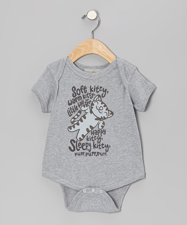 Gray 'Soft Kitty' Bodysuit - Infant
