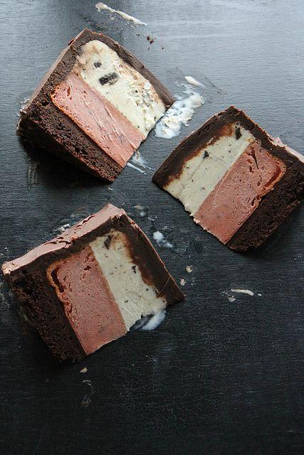 Neapolitan Ice Cream Cake by Heather Christo. Killin' me. Just killin' me.
