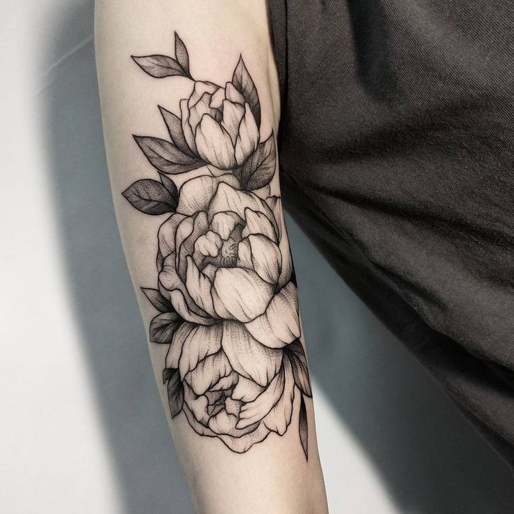 signification de la pivoine en tatouage tatouage. Black Bedroom Furniture Sets. Home Design Ideas