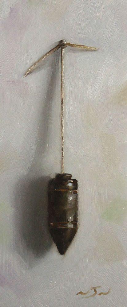 Original Oil Painting - Plum Line - Vintage/Retro Still Life Art - Nelson