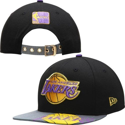 New Era Og Fits La Lakers Black Foil Pop Reflective Visor Buckle Strapback Snap Cap Hat - http://weheartlakers.com/lakers-caps/new-era-og-fits-la-lakers-black-foil-pop-reflective-visor-buckle-strapback-snap-cap-hat