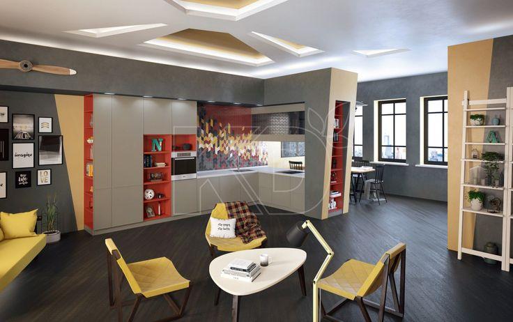 Кухня Лотта - купить кухню в стиле модерн, цена, фото в каталоге «Кухонный Двор»