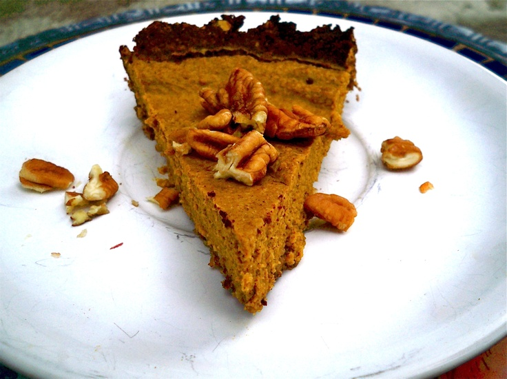1 can (15 oz.) pumpkin      1 tsp cinnamon, 1/2 tsp ground ginger, 1/4 tsp cloves, 1/4 tsp nutmeg (or 2 teaspoons pumpkin pie spice)      2 eggs      1 12 oz. can full fat coconut milk (too lessen the calories, substitute up to 3/4 of the coconut milk with almond milk)      Sweeteners*