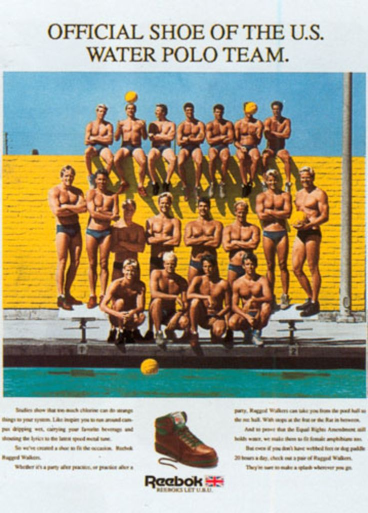 Read more: https://www.luerzersarchive.com/en/magazine/print-detail/reebok-sports-club-sao-paulo-14073.html Reebok Sports Club, Sao Paulo Official shoe of the U.S. Water Polo Team. Tags: Reebok Sports Club, Sao Paulo,Max Vadukul,Nat Whitten,Ruth Spitzer,Ron Arnold,TBWA\Chiat\Day, New York