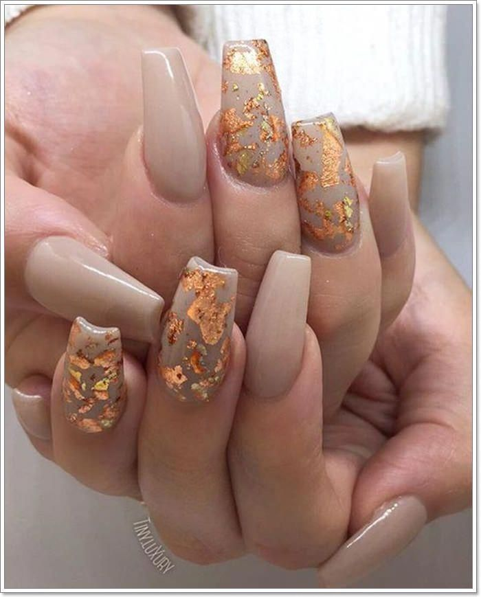 90 Best Fall Nail Colors That You Will Fall In Love With In 2020 Cute Nails For Fall Gold Nails October Nails