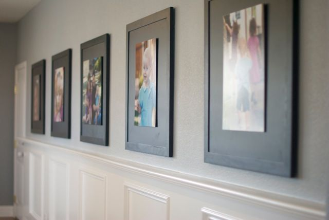 Great frames. She took out the glass and used velcro to attach mounted portraits. Nice!