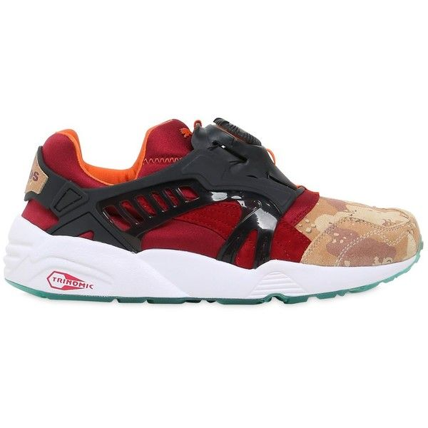 Puma Select Men Titolo X Atmos Disc Blaze Sneakers ($195) ? liked on  Polyvore featuring men\u0027s fashion, men\u0027s shoes, men\u0027s sneakers, multicolor,  ...