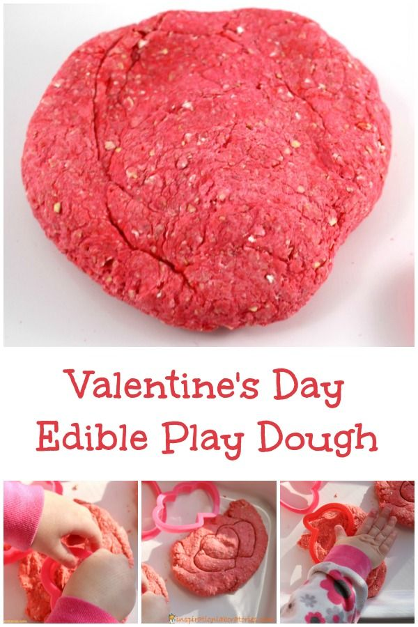 Valentine's Day Edible Play Dough - it's perfect for toddlers!